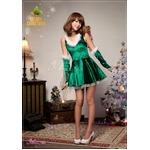 クリスマス☆サンタクロースコスプレセット/コスプレ/コスチューム/衣装/s025 グリーン