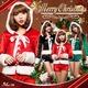 【クリスマスコスプレ】クリスマス☆サンタクロースコスプレセット/コスプレ/コスチューム/衣装/s023 グリーン - 縮小画像4