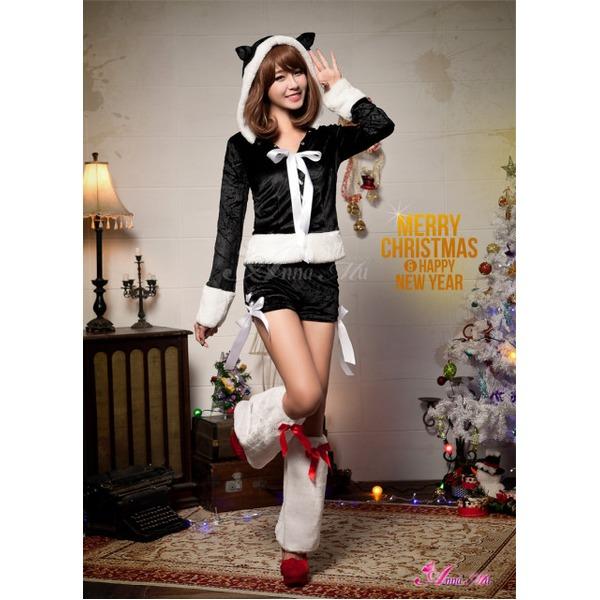 クリスマス☆サンタクロースコスプレセットs023 ブラック