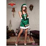 【クリスマスコスプレ】サンタクロースコスプレセット/コスプレ/コスチューム/衣装/s005  グリーン
