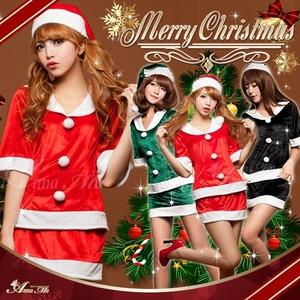 【クリスマスコスプレ】サンタクロースコスプレ3点セット 帽子付き