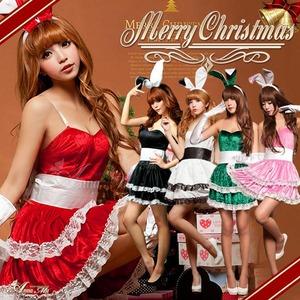 【クリスマスコスプレ】クリスマス☆サンタクロースコスプレセット/クリスマス/制服/サンタ衣装/コスプレ/コスチューム/バニーガール/衣装/s006 ピンク