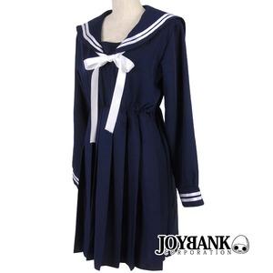 紺色長袖セーラーワンピース【コスプレ/コスチューム/セーラー服/制服/衣装】01010069