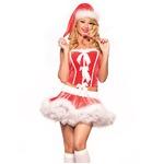 【サンタコスプレワンピース/クリスマスコス衣装/クリスマス/コスプレ/コスチューム/パーティ/イベント/舞台/サンタクロース衣装/仮装】9421