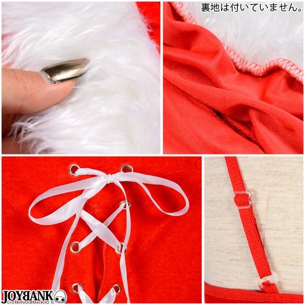 ボレロ付き☆フロント編み上げクリスマスワンピースセット サンタコスプレ 通販