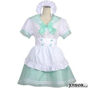 セーラーカラーメイド/02000156L-blue【オーガンジー/メイド服/セーラー服/コスプレ/コスチューム/衣装】
