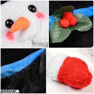 KIDS ハットをかぶった雪だるま帽子【帽子/クリスマス/スノーマン/サンタ/イベント/パーティ/コスプレ/小物】