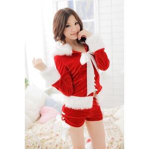 大きいサイズ L~3L☆レッド 猫耳サンタ ベロアサンタセット【クリスマス/クリスマス衣装/サンタクロース衣装/クリスマスコスプレ】 h02