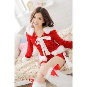 大きいサイズ L~3L☆レッド 猫耳サンタ ベロアサンタセット【クリスマス/クリスマス衣装/サンタクロース衣装/クリスマスコスプレ】 h03