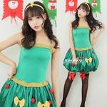 9236【緑 サンタ衣装/クリスマスツリー/サンタ/クリスマス/イベント/パーティ/コスプレ/コスチューム/仮装/衣装】