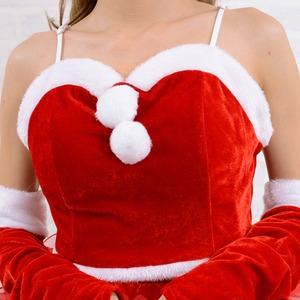 1051Red/サンタ4点セット /サンタコスチューム【クリスマス/クリスマス衣装/サンタクロース衣装/クリスマスコスプレ/コスプレ/コスチューム/イベント/パーティ/衣装/仮装】
