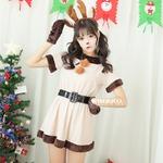 9204【トナカイ ベルト サンタ衣装/サンタ/クリスマス/イベント/パーティ/コスプレ/コスチューム/仮装/衣装】