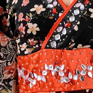 0673/ゴージャスビジューロング 着物ドレス...の紹介画像6