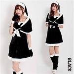 5563 ブラック ケープサンタ/クリスマス/サンタ/コスプレ/コスチューム/イベント/パーティ/衣装/仮装】
