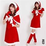 5563 レッド ケープサンタ/クリスマス/サンタ/コスプレ/コスチューム/イベント/パーティ/衣装/仮装】