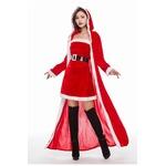 クリスマス サンタ マントJ1528【クリスマス/コスプレ/コスチューム/イベント/パーティ/仮装/衣装】の画像
