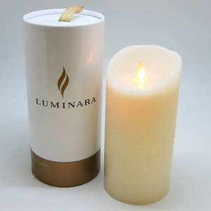 火をつかわないキャンドル 《luminara(ルミナラ) 》LEDキャンドル  高さ23cm  B302 オーシャンブリーズ - 拡大画像