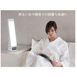 bright up clock ブライトアップクロック(光と音の目覚まし時計) ホワイト - 拡大画像