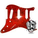 GP Factory(GPファクトリー) ストラトキャスター用ノイズ低減ピックガード 57年式8穴タイプ レットトートイズ(赤鼈甲)4プライ