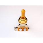 GP Factory(GPファクトリー) トグルスイッチ縦型 ゴールド アンバーボタン (エレキギターパーツ)