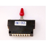 GP Factory(GPファクトリー) 3WAYレバースイッチ クローズ レッドボタン (エレキギターパーツ)
