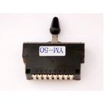GP Factory(GPファクトリー) 5WAYレバースイッチ クローズ ブラックボタン (エレキギターパーツ)