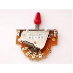 GP Factory(GPファクトリー) 3WAYレバースイッチ オープン レッドボタン (エレキギターパーツ)