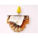 GP Factory(GPファクトリー) 5WAYレバースイッチ オープン イエローボタン (エレキギターパーツ)