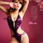 コスプレ 2011新作 パープルサテン&レース☆セクシーテディ z561