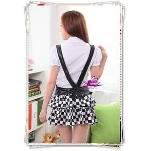 コスプレ 『学生服』サスペンダー付きフリルスカートのセーラー服(2点入り)