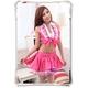 コスプレ ピンク×白*パニエ内臓スカートのゴスロリ衣装(3点入り)