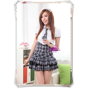 コスプレ チェック柄スカートのスクール 学生服
