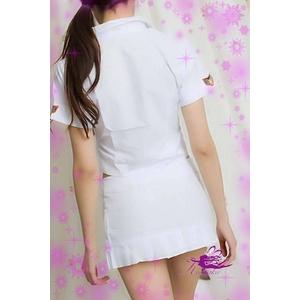 コスプレ 学生服 可愛いマークのミニスカートの白の制服