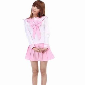 コスプレ 大きいリボンの純情可憐な乙女の学生服/長袖