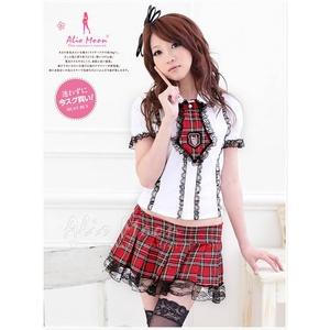 アキバ系 女子高生 制服セット コスプレ コスチューム f205 - 拡大画像