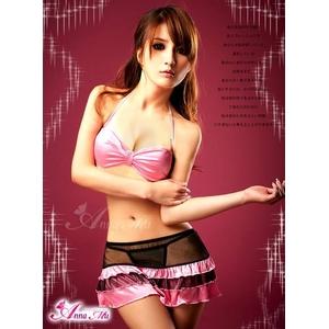 黒×ピンク セクシーランジェリー3点セット/コスプレ コスチューム z655
