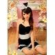 2012新作 キュートなウサギさん♪黒×白サンタバニーガール/コスプレ コスチューム z669