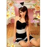 【クリスマスコスプレ】キュートなウサギさん♪黒×白サンタバニーガール/ コスチューム z669