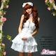 2012新作 ふんわりスカートのゴスロリ調ホワイトドレス/コスプレ コスチューム z672 - 縮小画像1