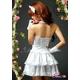 2012新作 ふんわりスカートのゴスロリ調ホワイトドレス/コスプレ コスチューム z672 - 縮小画像3