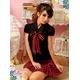黒×赤チェック ミニスカ女子制服/コスプレ コスチューム z690 - 縮小画像2