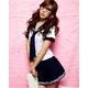 コスプレ 女子高生ミニスカ セーラー服 ネイビー C44 - 縮小画像1