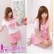 コスプレ 女子高生ミニスカセーラー服 ピンク C45 - 縮小画像1