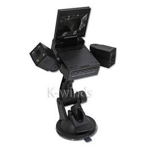 2画面モニター&2レンズ付き120度広角暗視撮影車載カメラ - 拡大画像