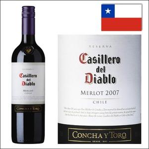 【チリ産 赤ワイン】コンチャ・イ・トロ カッシェロ・デル・ディアブロ メルロー 750ml