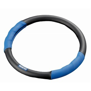 SPARCO(スパルコ) ステアリングカバーMサイズ Ver.2 BLUE/BLACK(レザー) SPC1100Lの詳細を見る