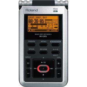 Roland(ローランド) リニアPCMレコーダー WAVE/MP3 Recorder R-05 - 拡大画像