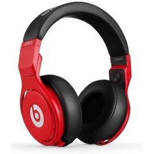 Beats by Dr. Dre Beats Pro プロフェッショナルDJヘッドフォン/レッドブラック  BT OV PRO RBL - 拡大画像