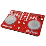 Vestax iPhone/iPad/iPod touch対応DJコントローラ ホワイト SPIN2 RED