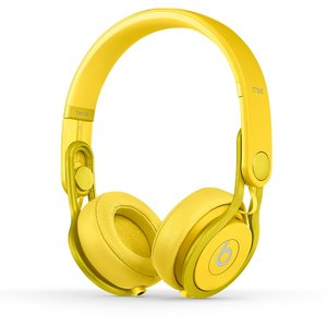 Beats by dr.dre  Mixr Colr Yellow  ハイパフォーマンス・プロフェッショナル・ヘッドホン/カラーイエロー  BT ON MIXR C-YEL - 拡大画像